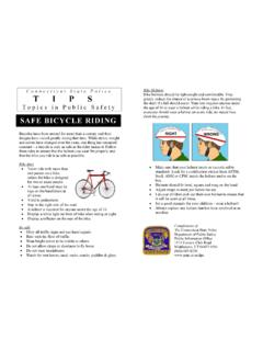 SAFE BICYCLE RIDING - Connecticut