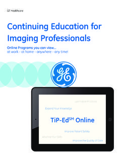 Continuing Education for Imaging Professionals