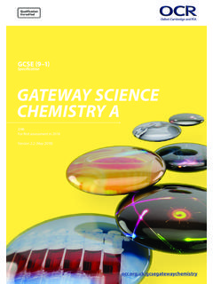 Specification GATEWAY SCIENCE CHEMISTRY A