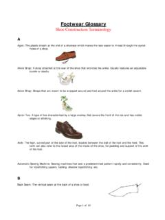 Footwear Glossary Shoe Construction Terminology