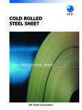 COLD ROLLED STEEL SHEET - JFEスチール株式会社