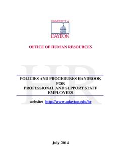 OFFICE OF HUMAN RESOURCES HR - University of Dayton