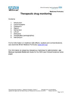 Therapeutic drug monitoring - mm.wirral.nhs.uk