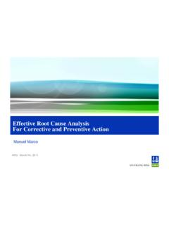 Effective Root Cause Analysis For Corrective and ...