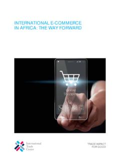 INTERNATIONAL E-COMMERCE IN AFRICA: THE …