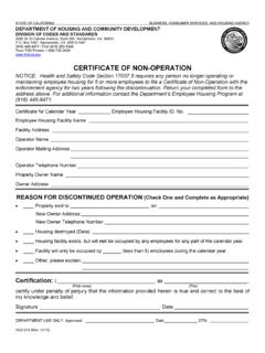 CERTIFICATE OF NON-OPERATION