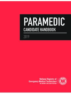 1 PARAMEDIC - National Registry of Emergency Medical ...