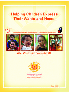 Helping Children Express Their Wants and Needs