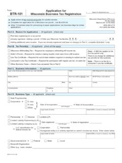 BTR-101 Application for Wisconsin Business Tax ...