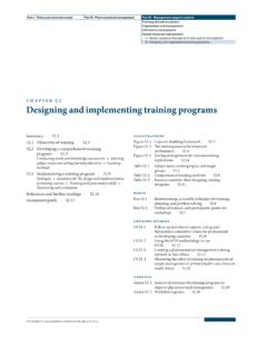 chapter 52 Designing and implementing training programs