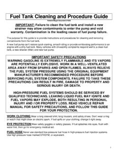 Fuel Tank Cleaning and Procedure Guide - Federal …