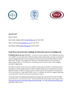 Task Force presents new ranking of colorectal …