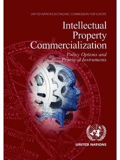 Intellectual Property Commercialization n - UNECE