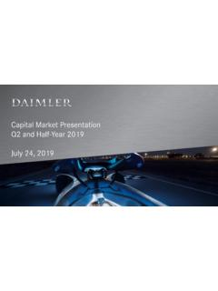 Daimler Q2 and Half-Year 2019 Capital Market Presentation