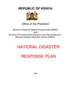 KENYA National Disaster Response Plan -Final - …