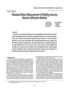 Technical Report Residual Stress Measurement of …