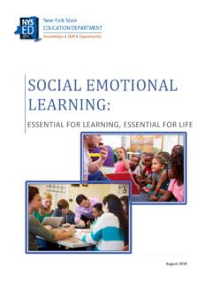 SOCIAL EMOTIONAL LEARNING - P-12 : NYSED
