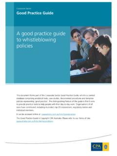A good practice guide to whistleblowing policies