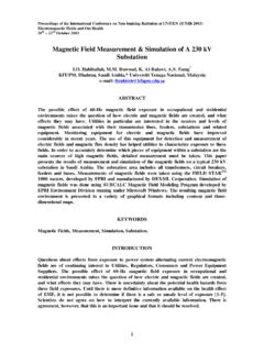 Magnetic Field Measurement & Simulation of A …
