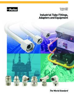 Industrial Tube Fittings, Adapters and Equipment