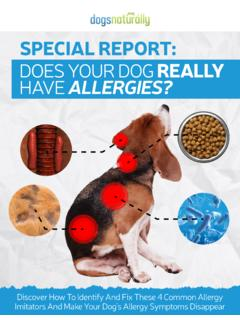 DOES YOUR DOG REALLY HAVE ALLERGIES?