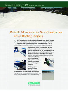 Reliable Membrane for New Construction or Re …