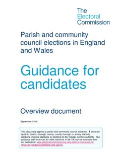 Guidance for candidates - Electoral Commission