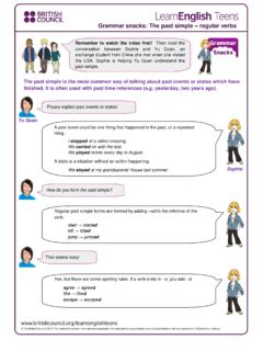 Grammar snacks: The past simple regular verbs / grammar
