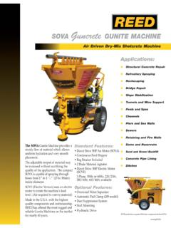SOVA Guncrete GUNITE MACHINE - REED Concrete Pumps ...