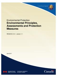 REGDOC-2.9.1 Environmental Principles …