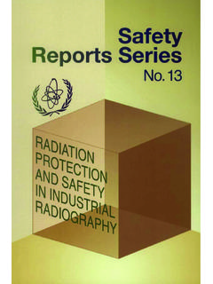 RADIATION PROTECTION AND SAFETY IN INDUSTRIAL …