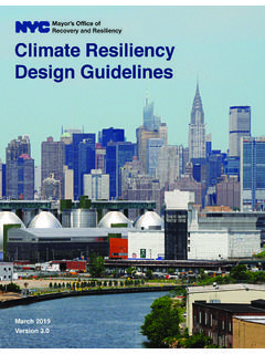 Climate Resiliency Design uielines - ersion 3.0 Recover y ...