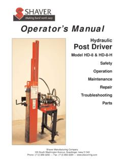 hd-8 hydraulic post driver - shavermfg.com