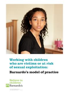 Working with children who are victims or at risk …