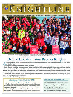 Defend Life With Your Brother Knights - kofc.org