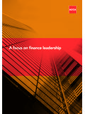 A focus on finance leadership - ACCA Global