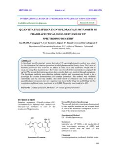 QUANTITATIVE ESTIMATION OF LOSARTAN POTASSIUM IN ...