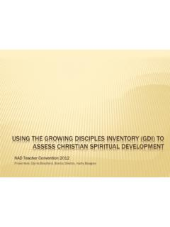 USING THE GROWING DISCIPLES INVENTORY (GDI) TO …