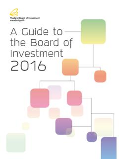 www.boi.go.th A Guide to the Board of Investment …