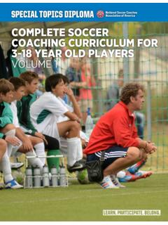 COMPLETE SOCCER COACHING CURRICULUM FOR 3-18 …