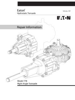 Repair Information - Eaton