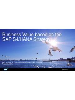 Business Value based on the SAP S4/HANA Strategy