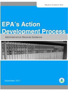 EPA's Action Development Process: Administrative Records ...