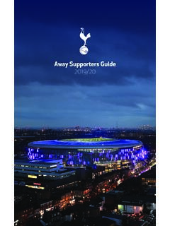 Away Supporters Guide 2019/20 - tottenhamhotspur.com