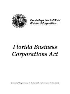 Florida Business Corporations Act - form.sunbiz.org