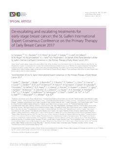 De-escalating and escalating ... - Oncology Conferences