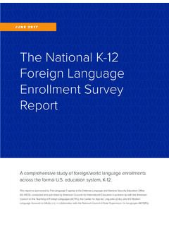 The National K-12 Foreign Language Enrollment Survey …
