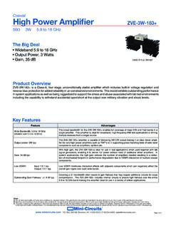 Coaxial High Power Amplifier ZVE-3W-183+