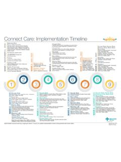 Connect Care: Implementation Timeline