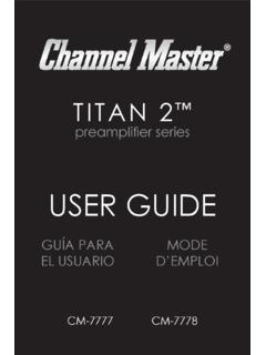 USER GUIDE - Channel Master